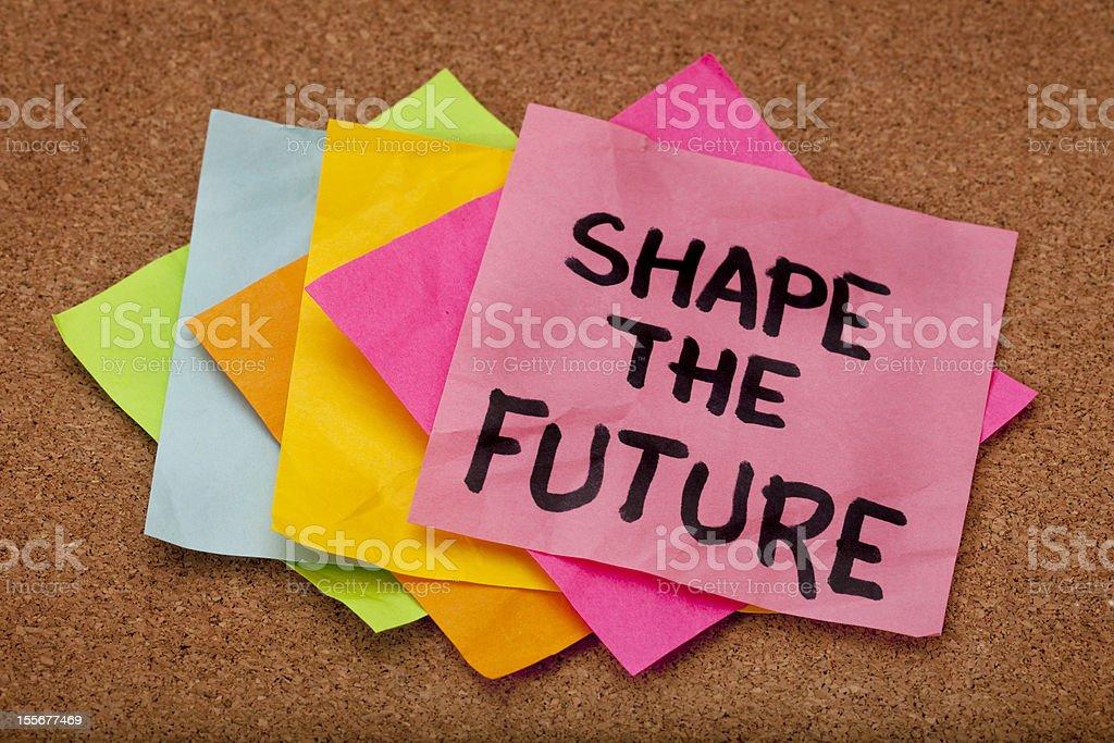 shape the future royalty-free stock photo