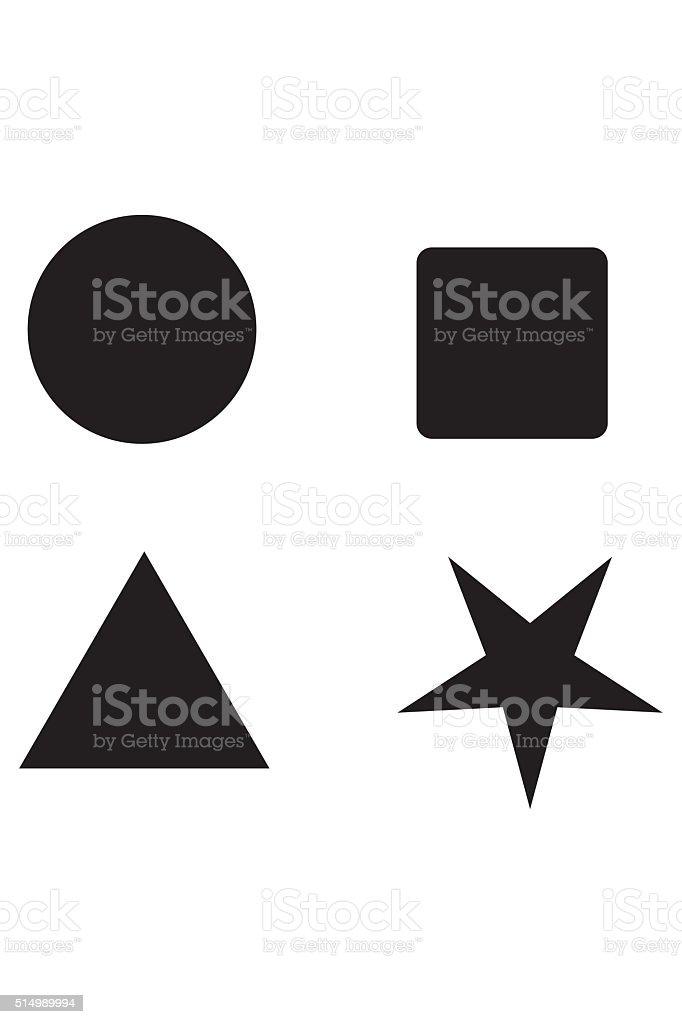 Shape Toys Icon Flat Graphic Design stock photo