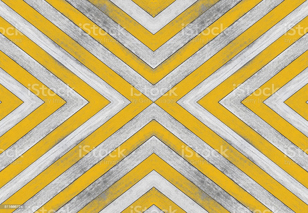 X shaped, old white and yellow wood texture stock photo
