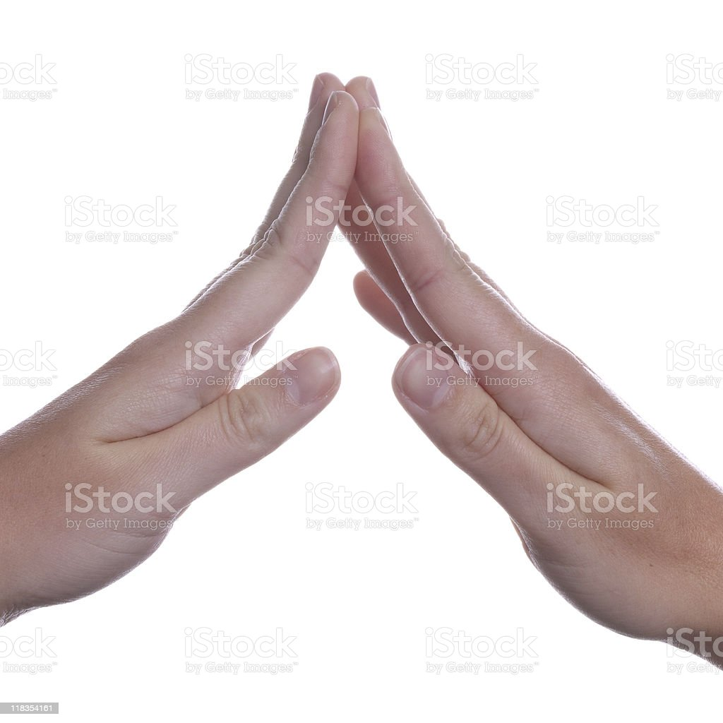 Shapely Female Hand Gesture stock photo