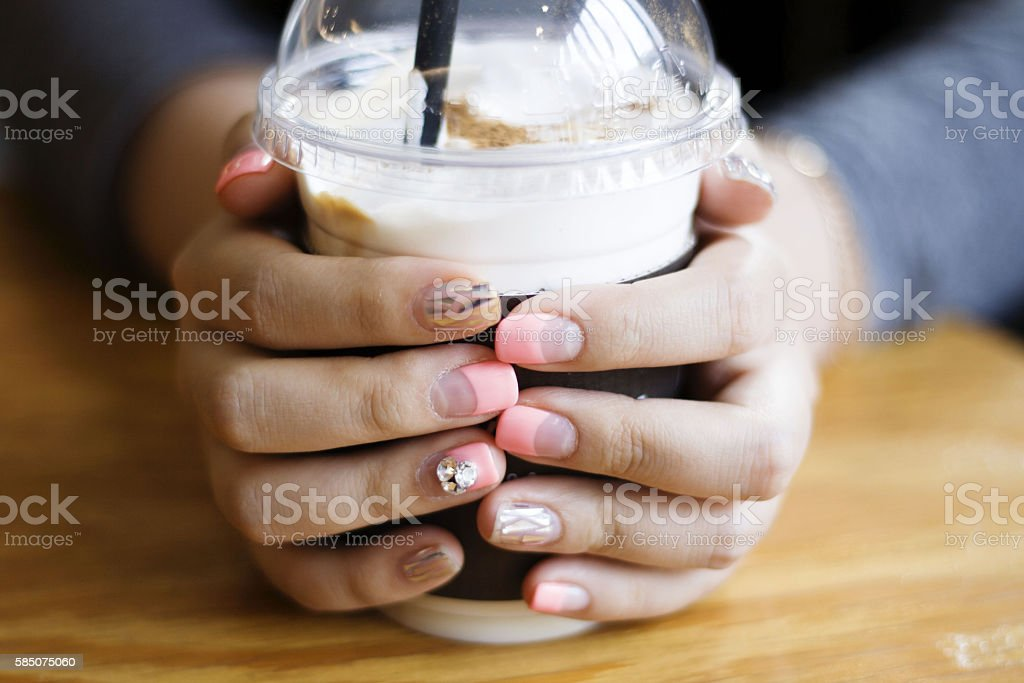 shapely hands stock photo