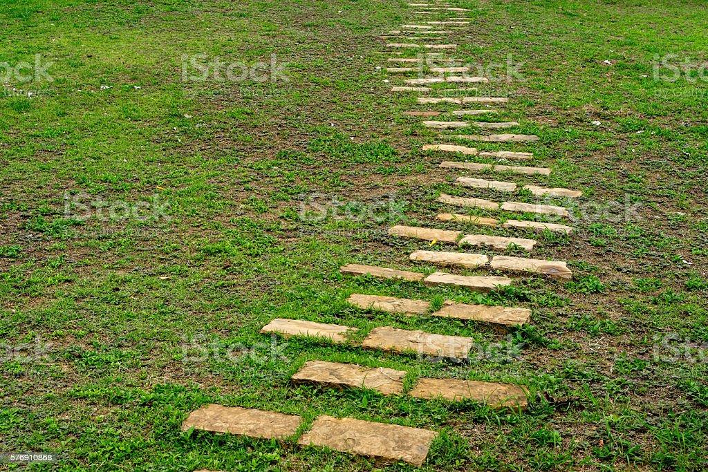 Shapes and curves of cobblestone walkway photo libre de droits