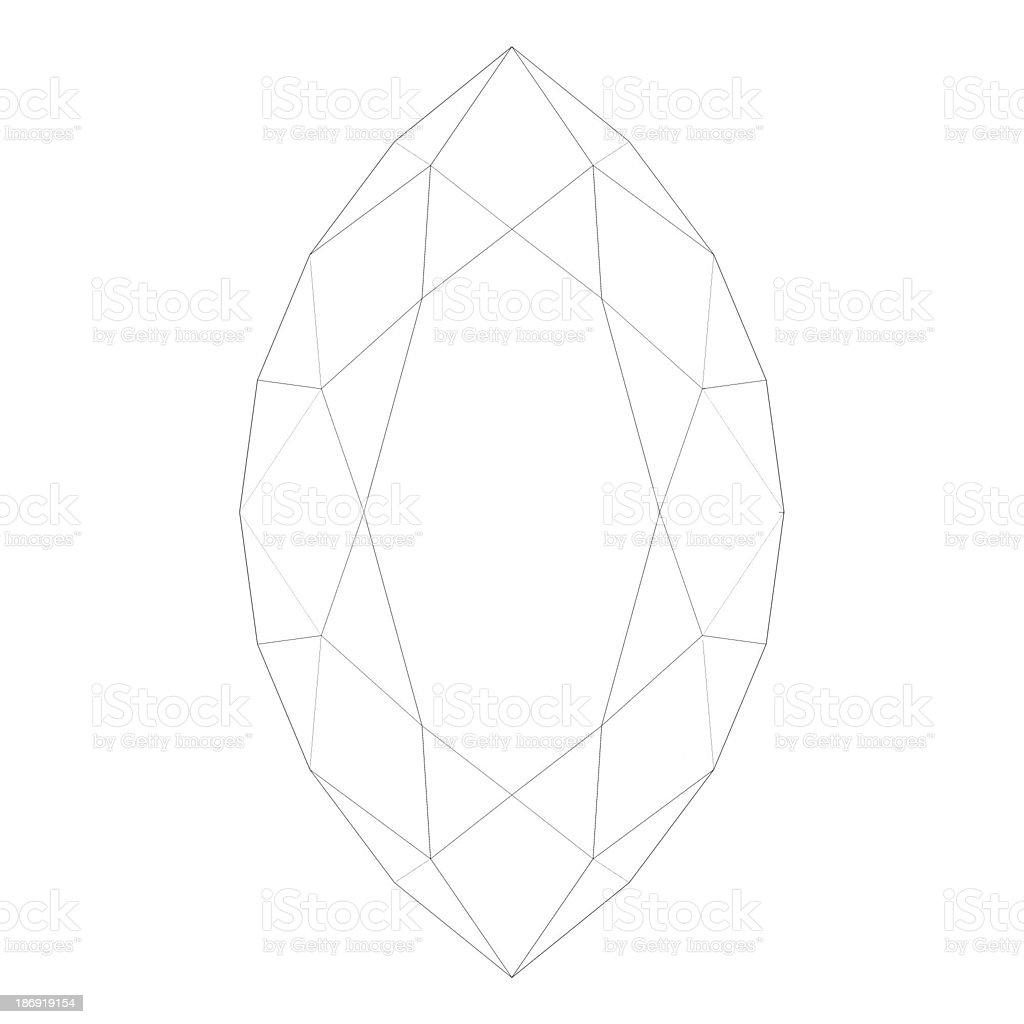 Shapes of diamond stock photo