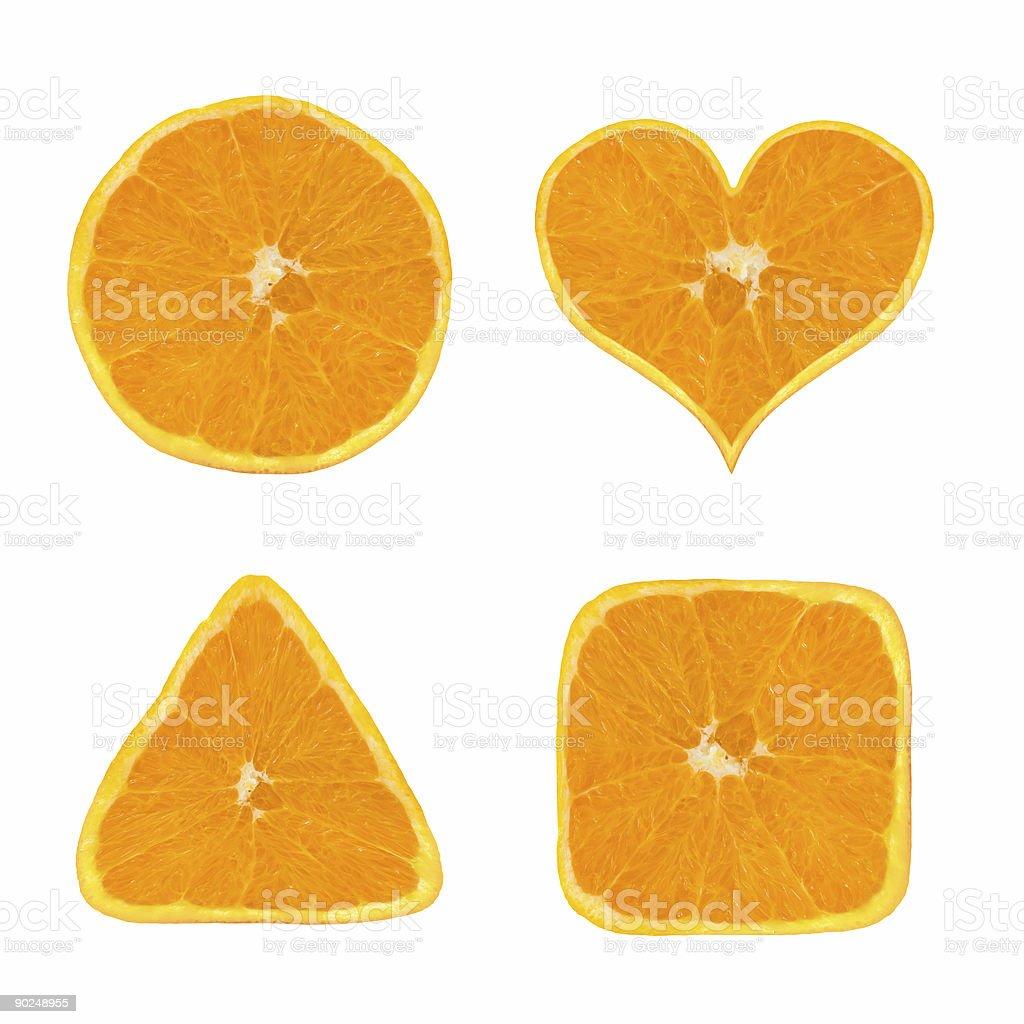Shapes of orange fruit royalty-free stock photo