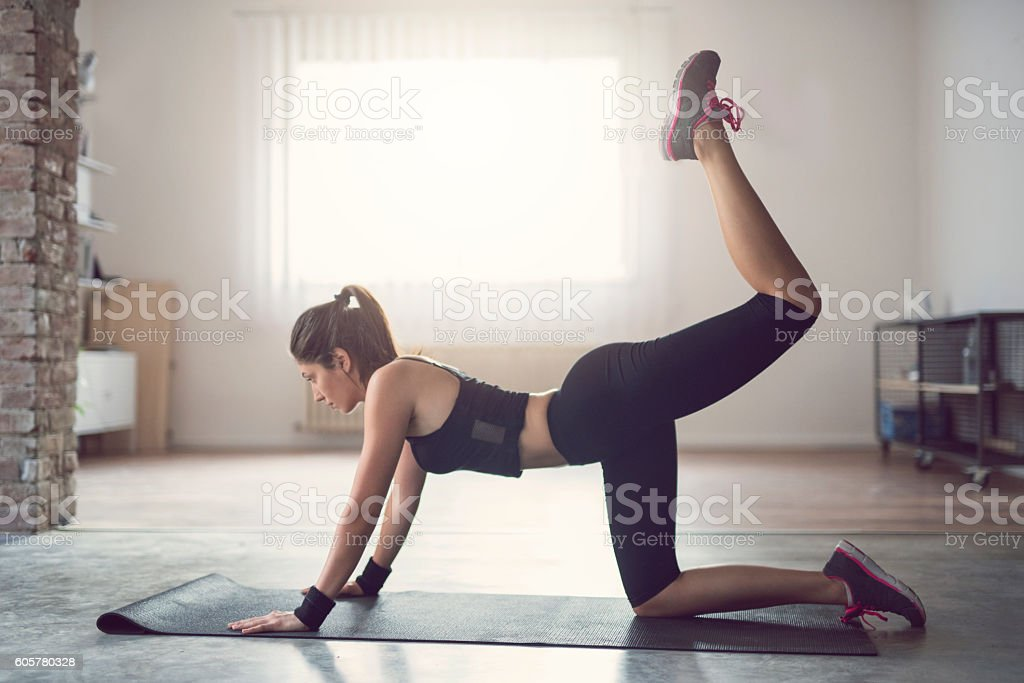 Shaping obliques stock photo