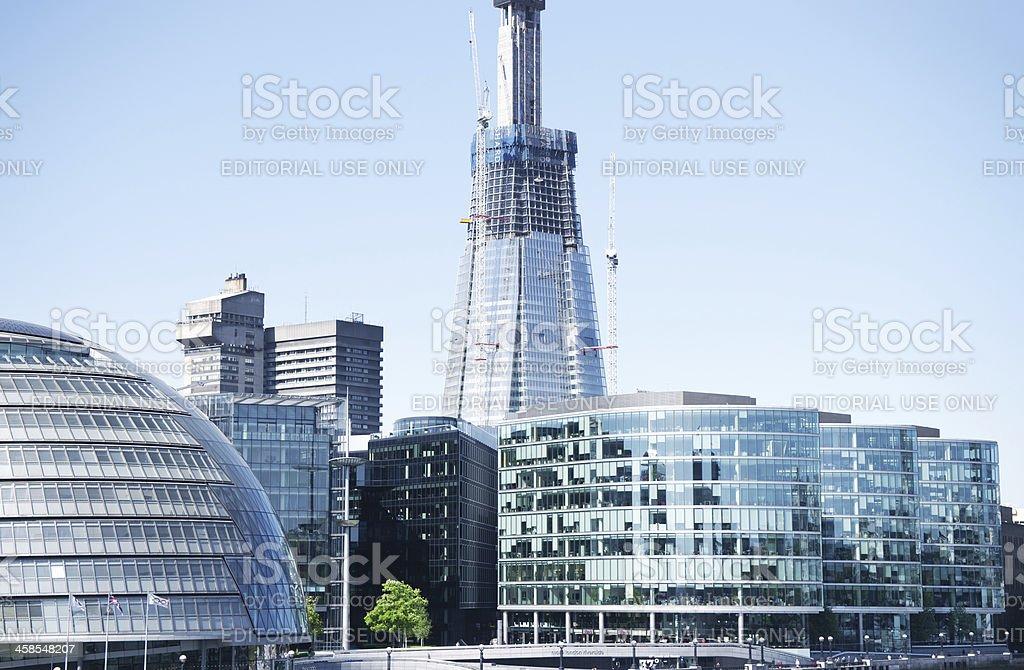 Shard London Bridge in construction royalty-free stock photo