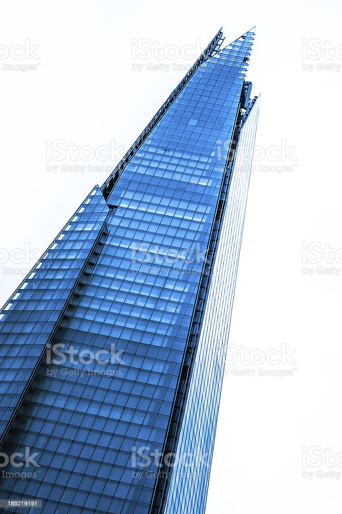 Shard Skyscraper by Renzo Piano in London stock photo