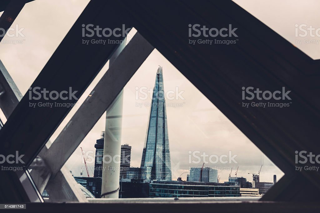 Shard View From The Tower Bridge stock photo