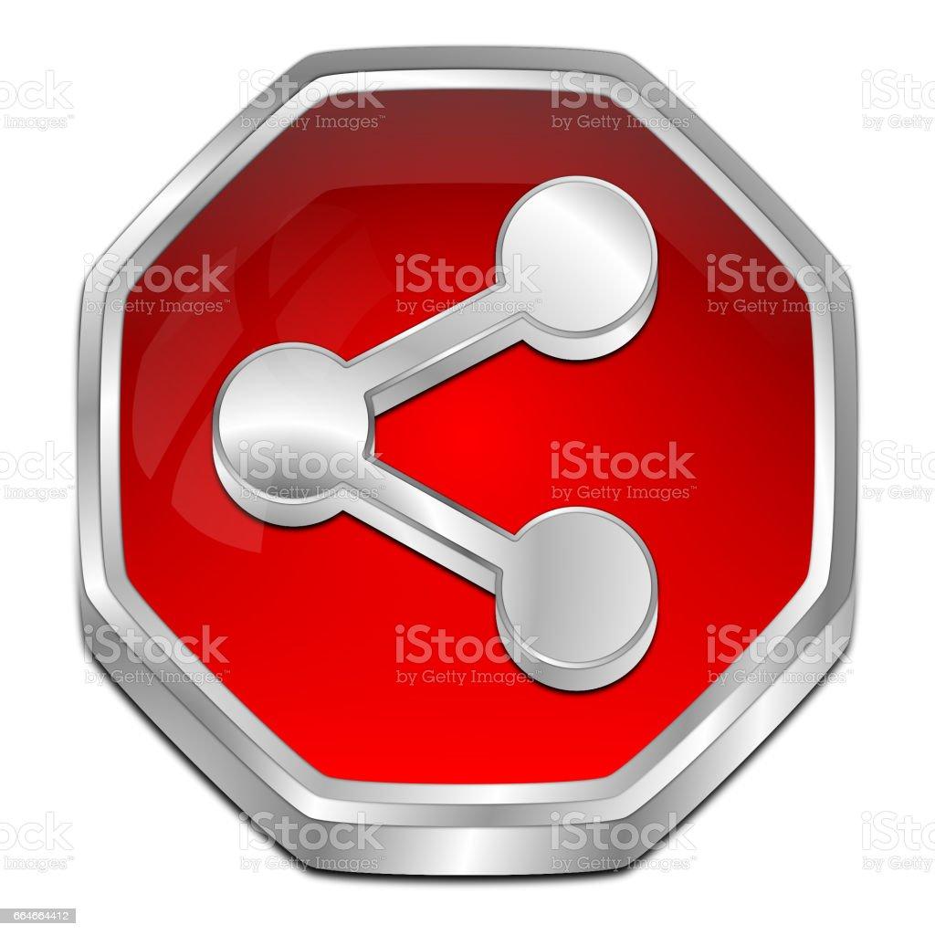 Share Button - 3D illustration stock photo