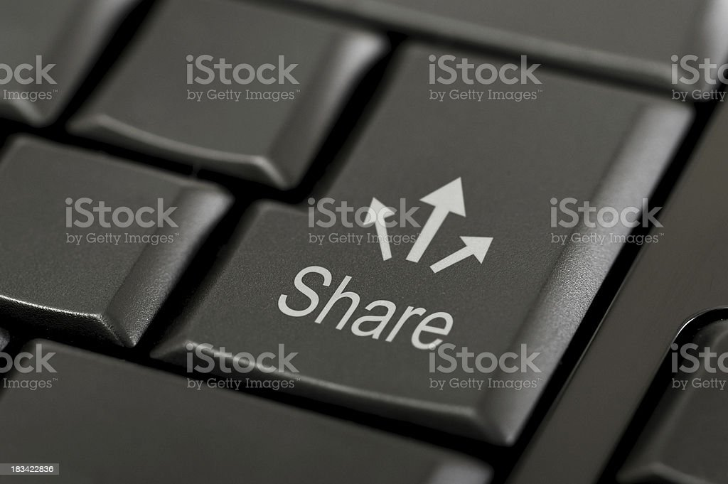 Share Button royalty-free stock photo
