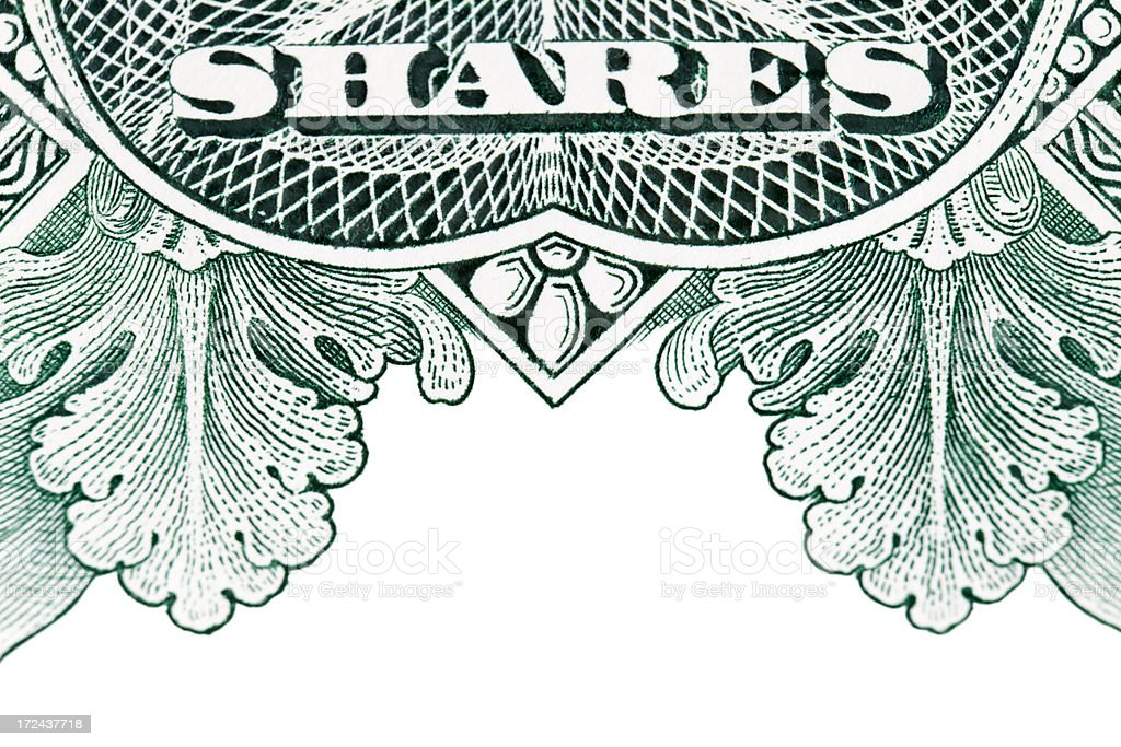 Share Certificate Motif stock photo