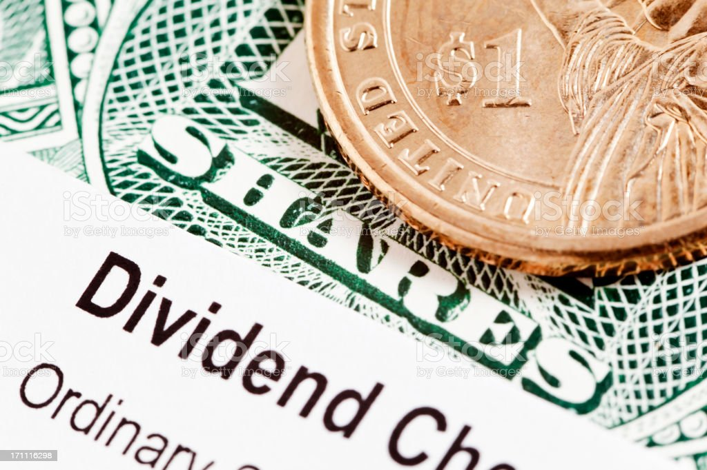 US Share Dividend royalty-free stock photo