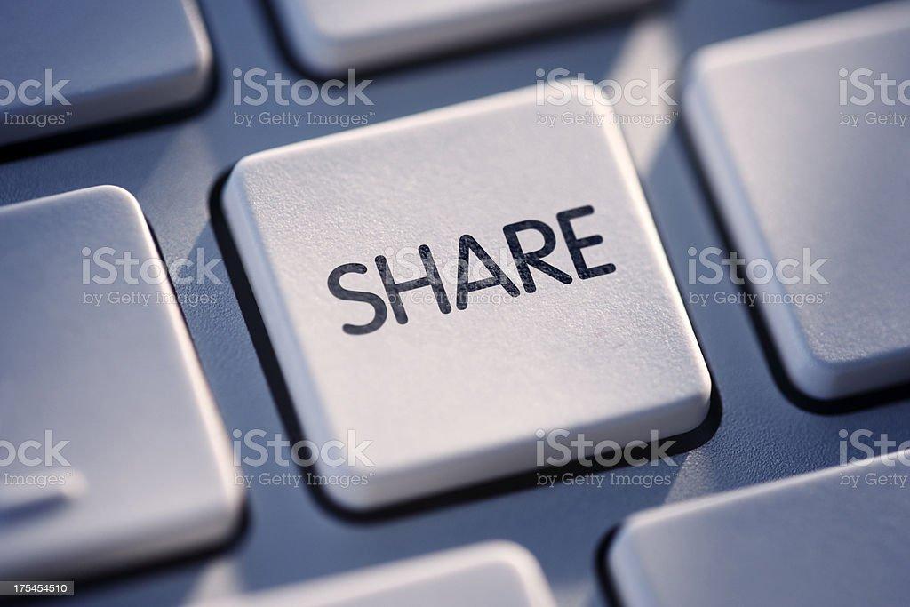 Share Key On Computer Keyboard royalty-free stock photo