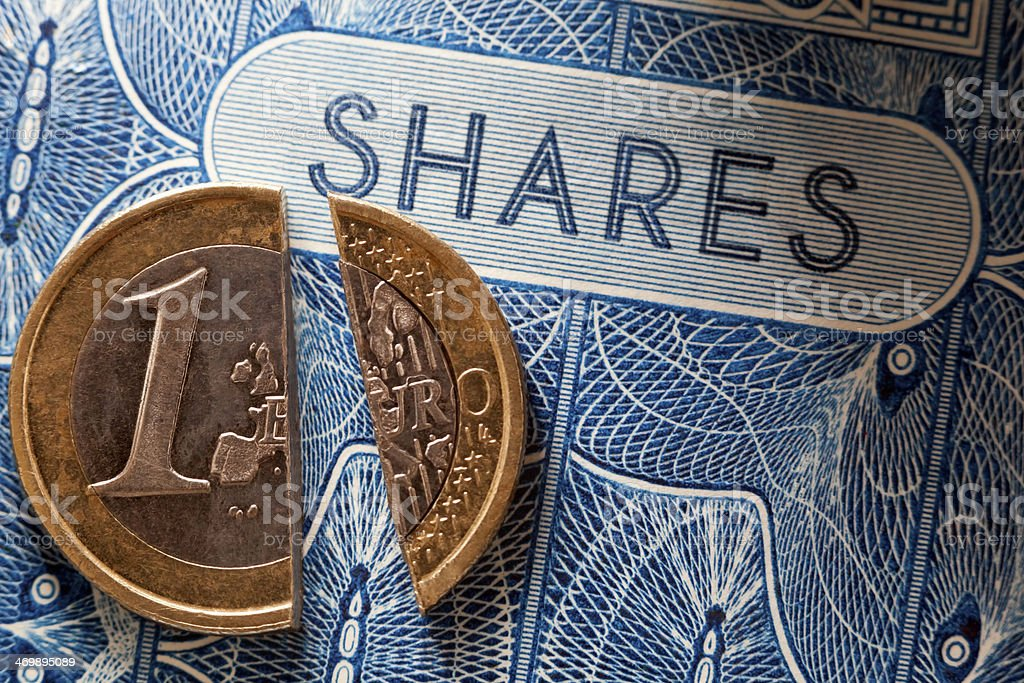Share Price Europe royalty-free stock photo