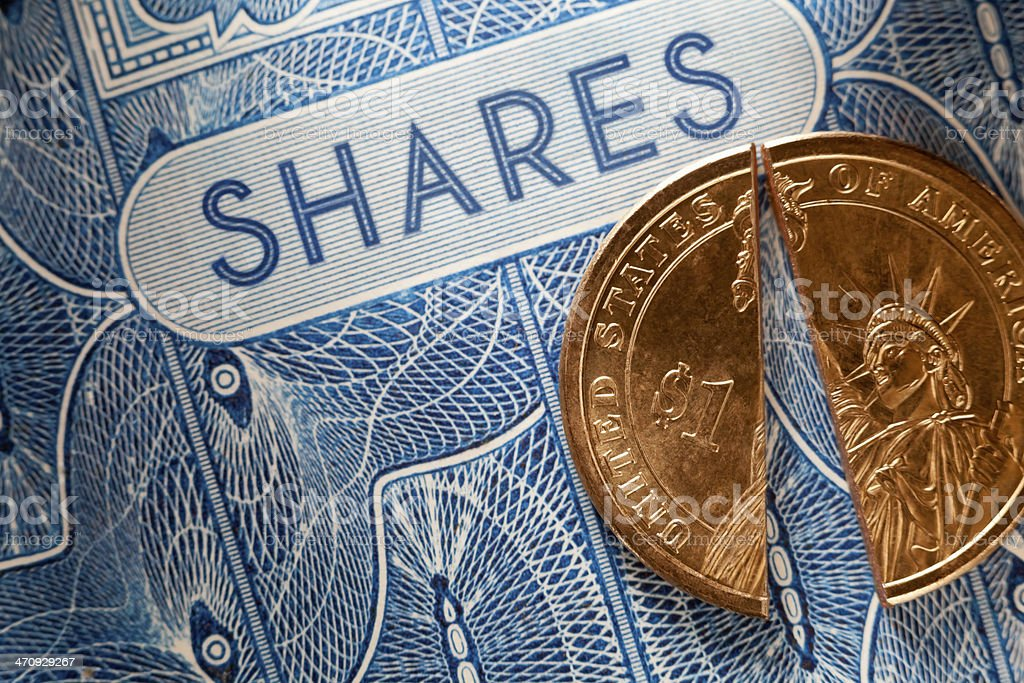 Share Price USA royalty-free stock photo