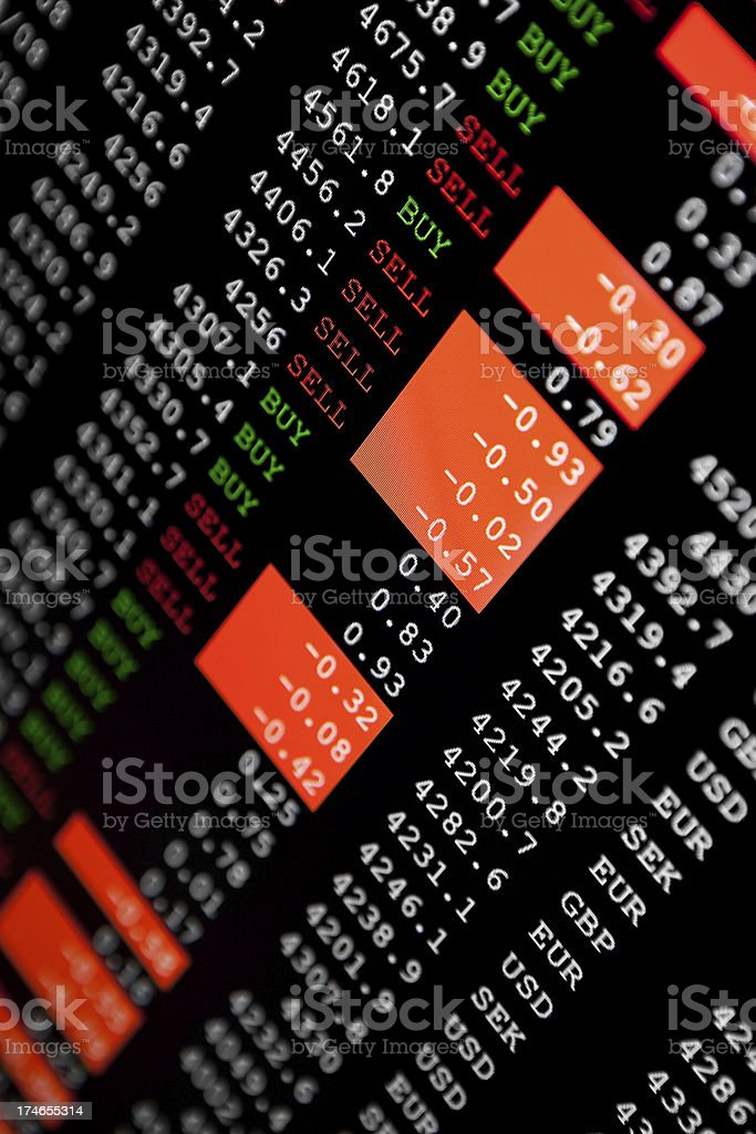 Share prices royalty-free stock photo