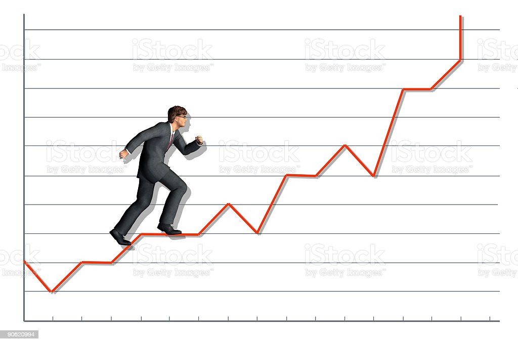 Share Prices Rising stock photo