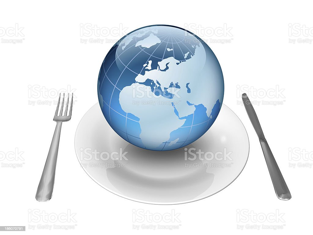 Share the earth's resources stock photo