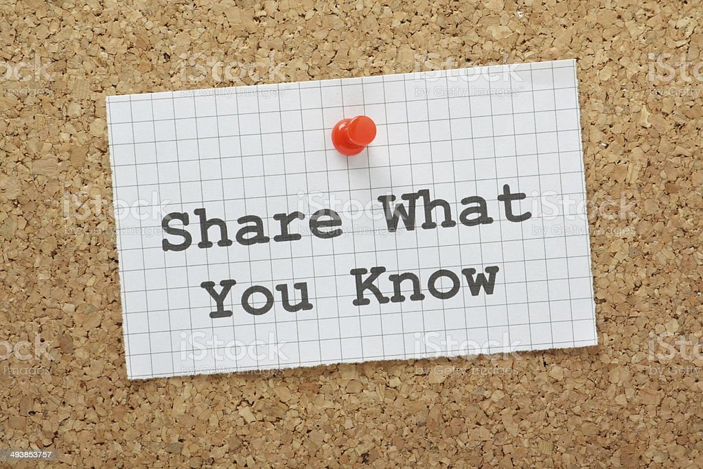 Share What You Know stock photo