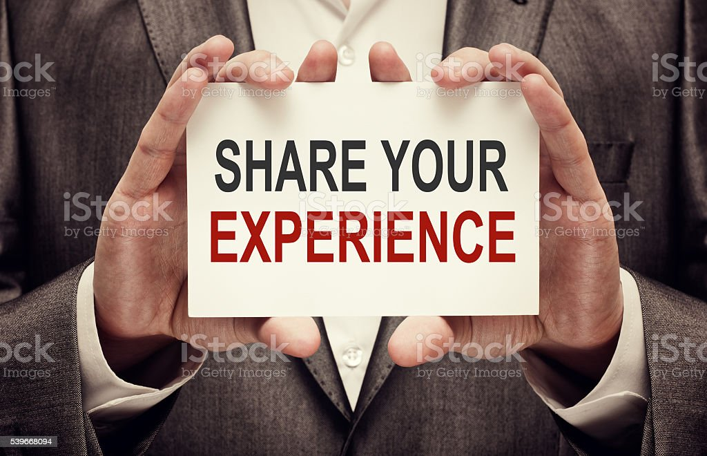 Share Your Experience stock photo