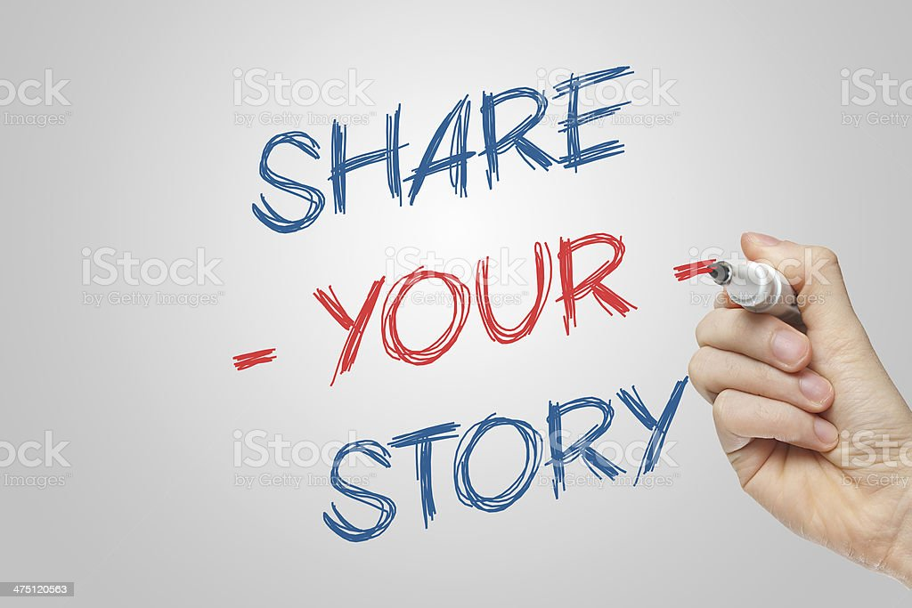 Share your story royalty-free stock photo