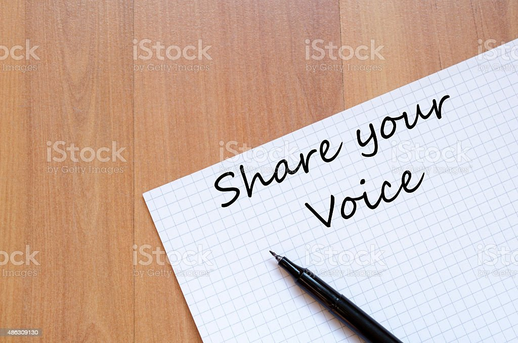 Share your voice concept stock photo