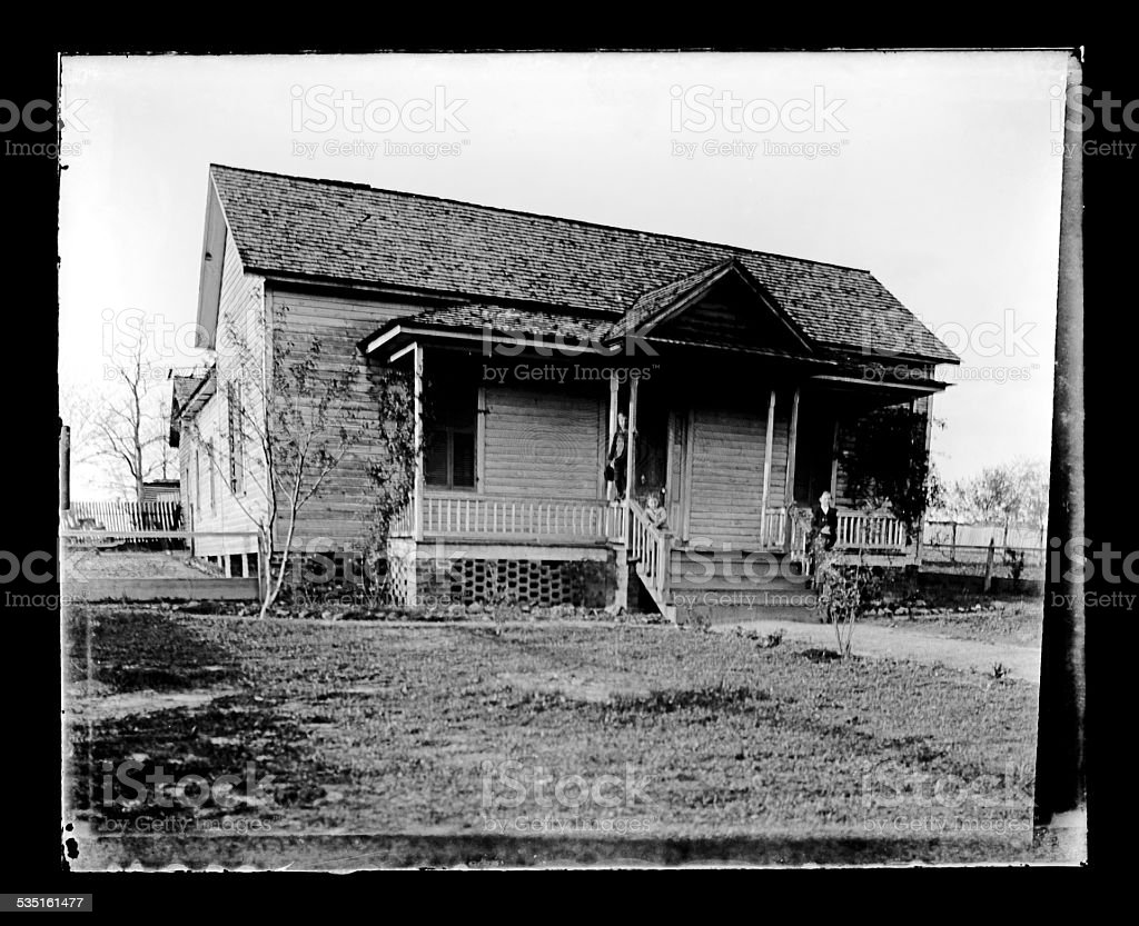 Sharecroppers Cottage, Circa 1890 stock photo