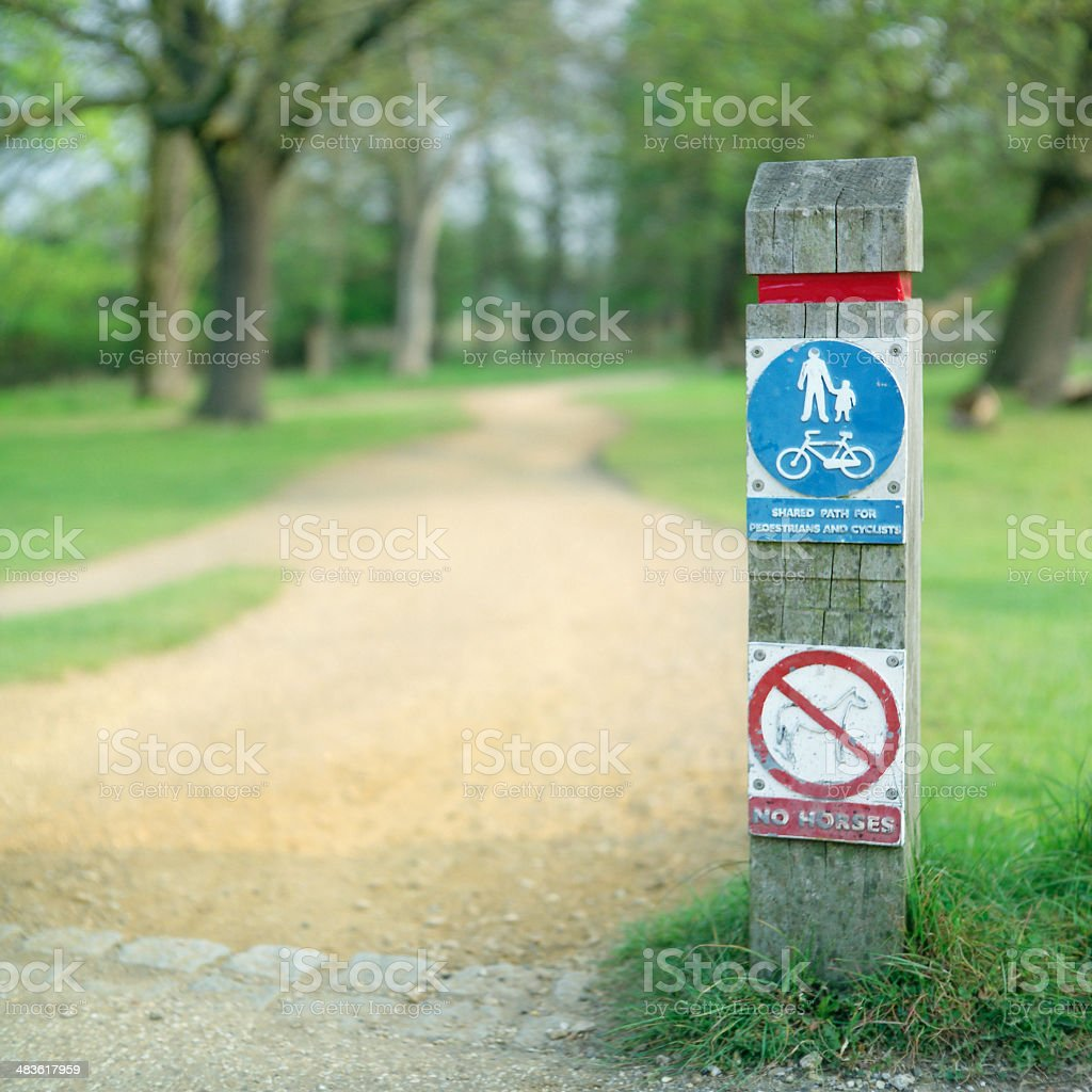 Shared Path royalty-free stock photo