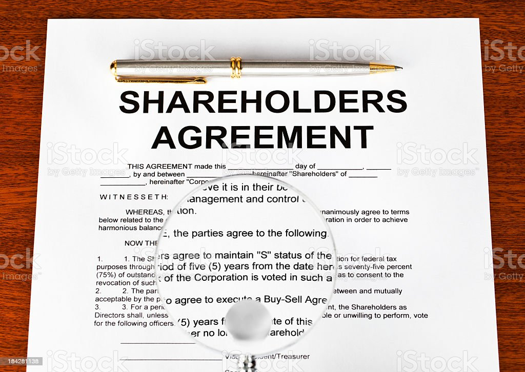 Shareholders agreement royalty-free stock photo