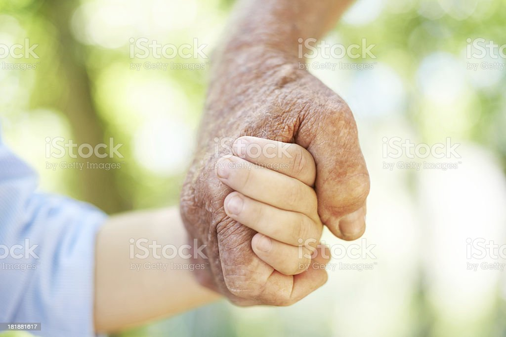 Sharing a close bond royalty-free stock photo