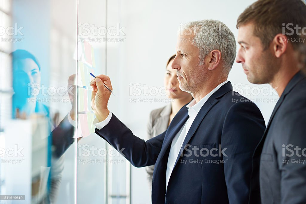 Sharing a collective vision stock photo