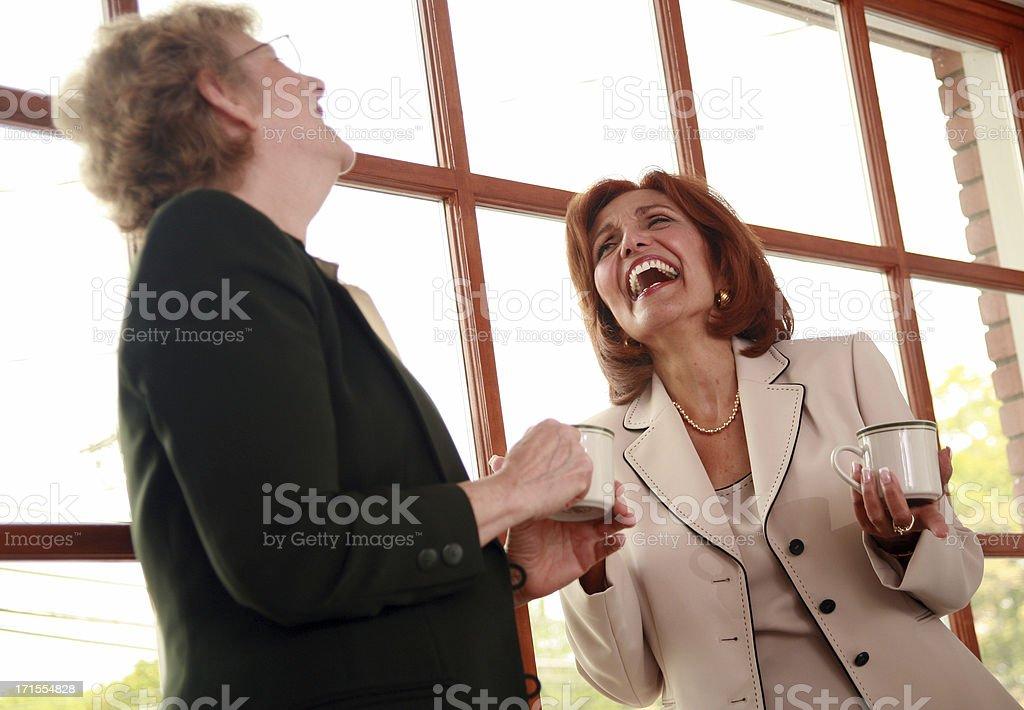 Sharing A Joke royalty-free stock photo