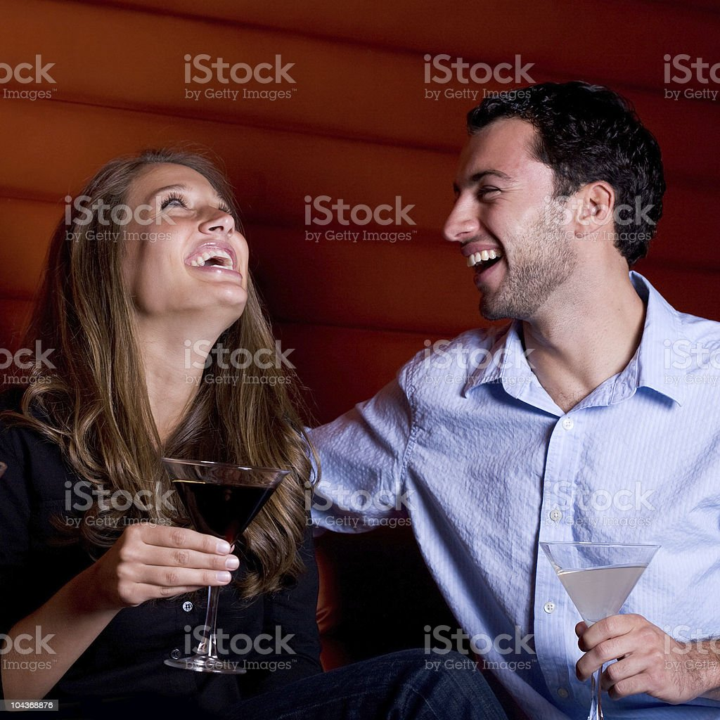 Sharing a laugh stock photo
