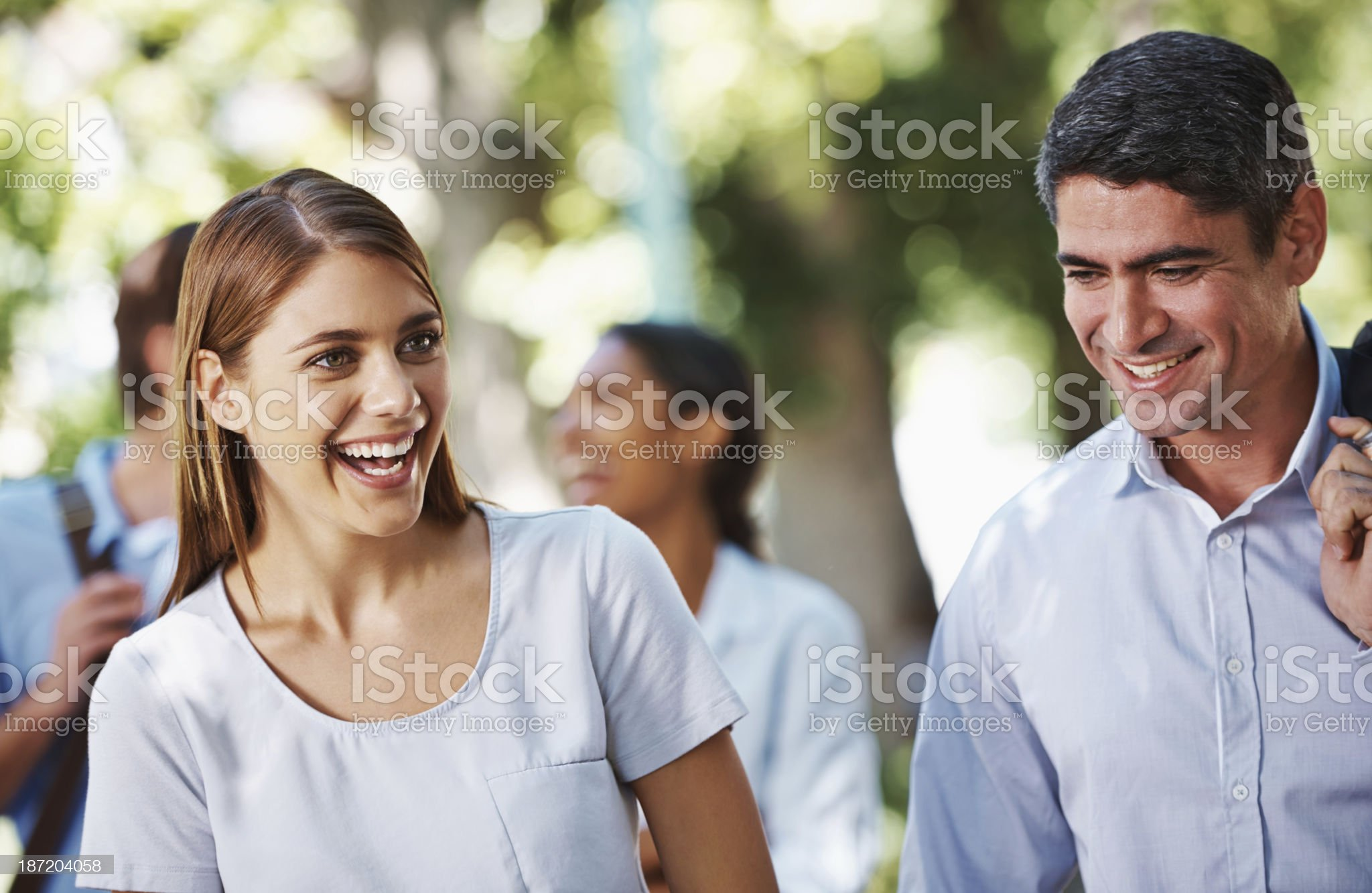 Sharing a laugh royalty-free stock photo