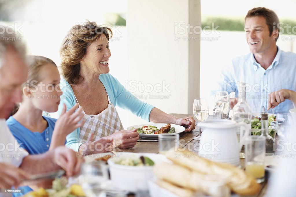 Sharing a meal with the ones we love most royalty-free stock photo