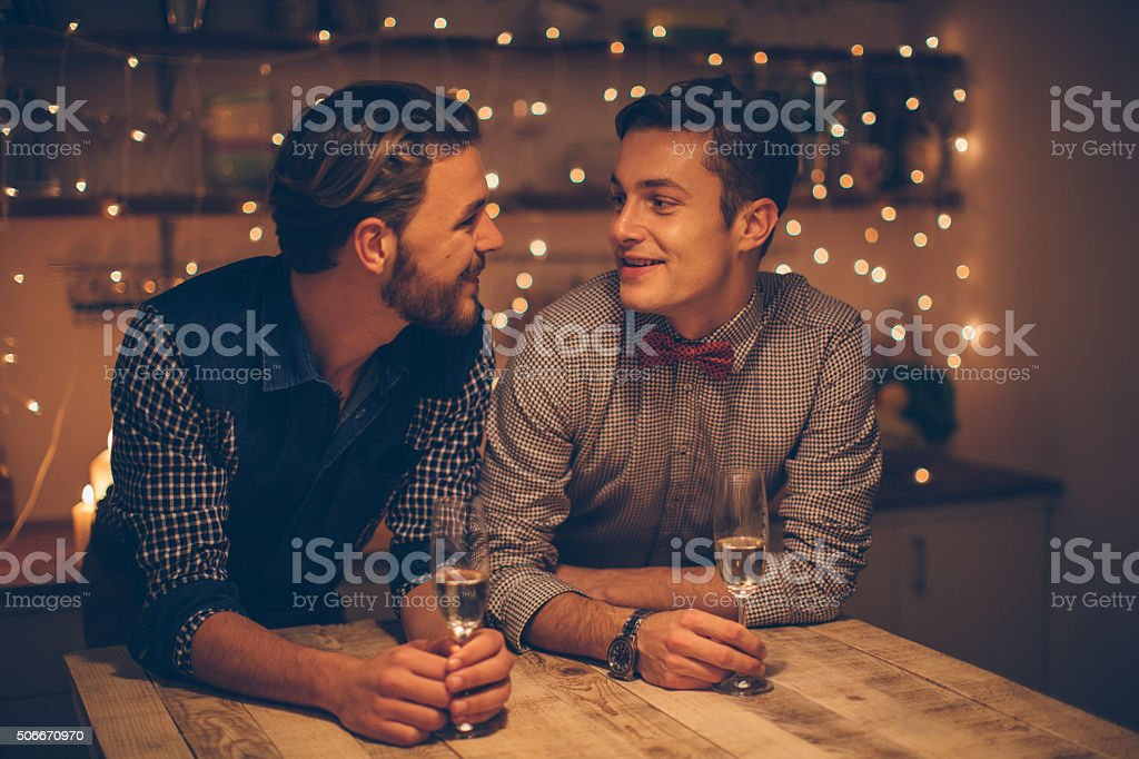 Sharing a moment of romance stock photo
