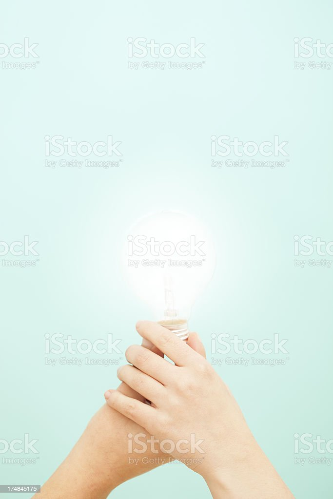 Sharing an idea royalty-free stock photo