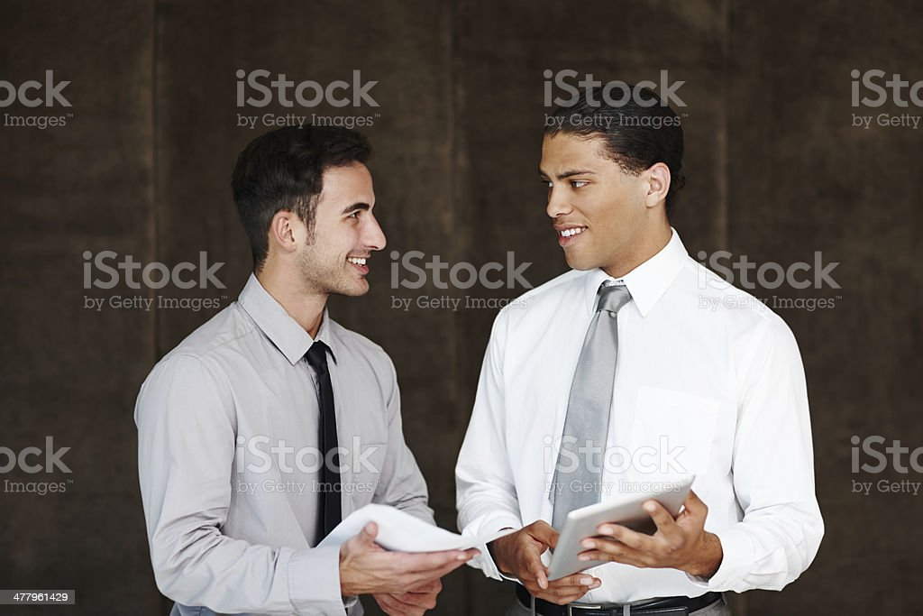 Sharing corporate ideas royalty-free stock photo