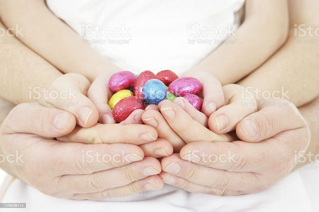 Sharing Easter as a Family royalty-free stock photo