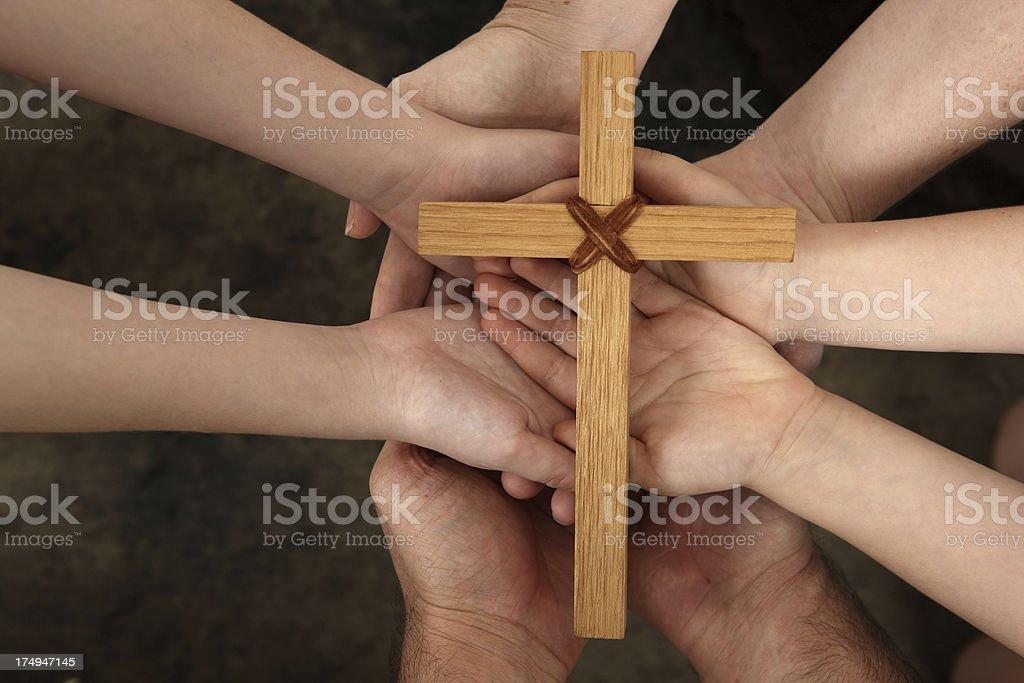 Sharing Faith royalty-free stock photo