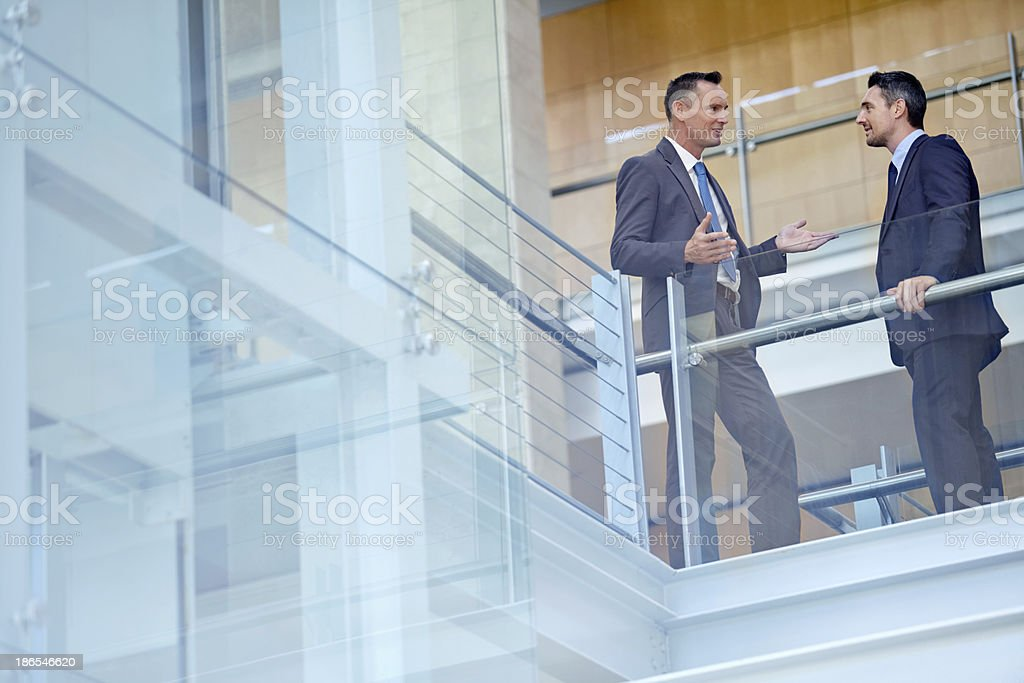 Sharing great investment ideas stock photo