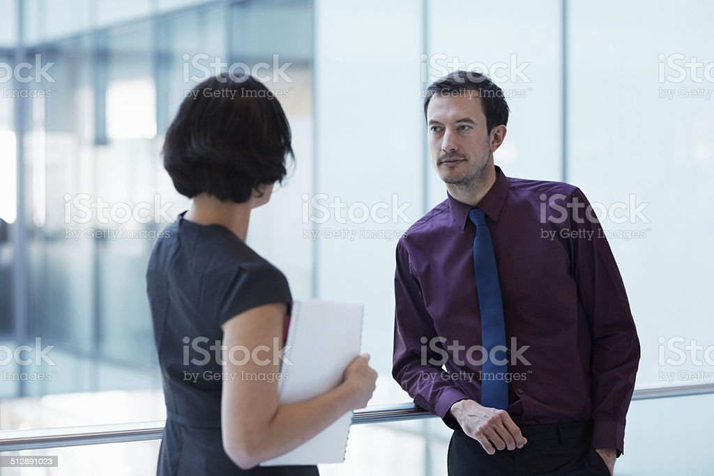 Sharing her secret of success stock photo