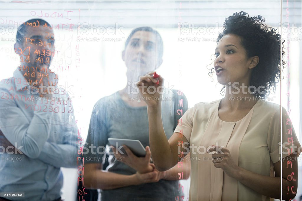 Sharing her thoughts stock photo