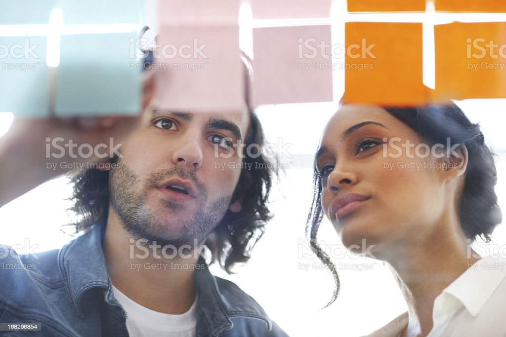 Sharing his creative opinions stock photo