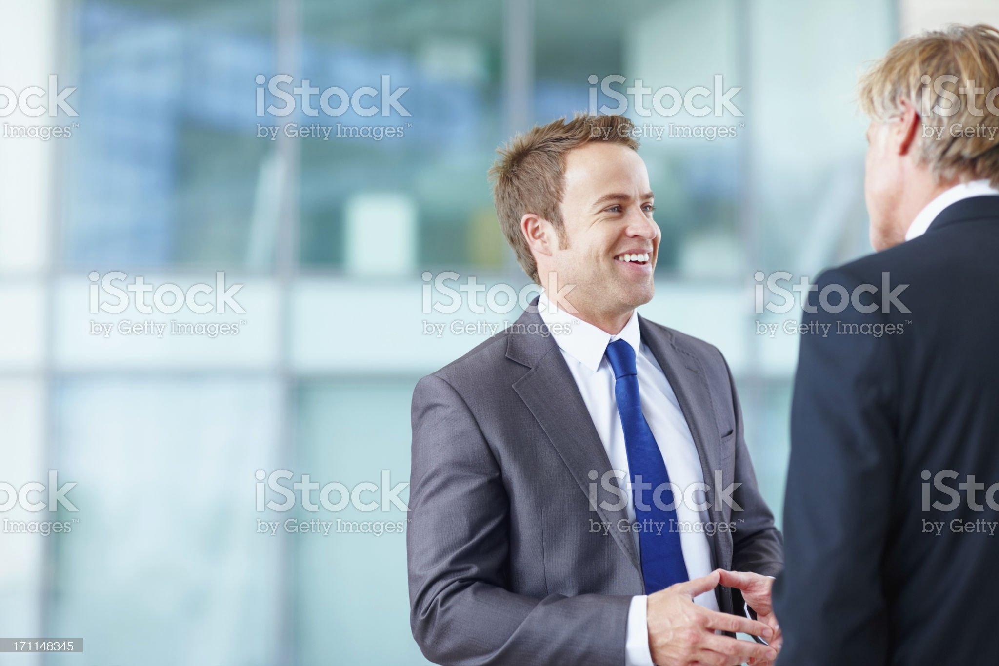 Sharing ideas in the office royalty-free stock photo