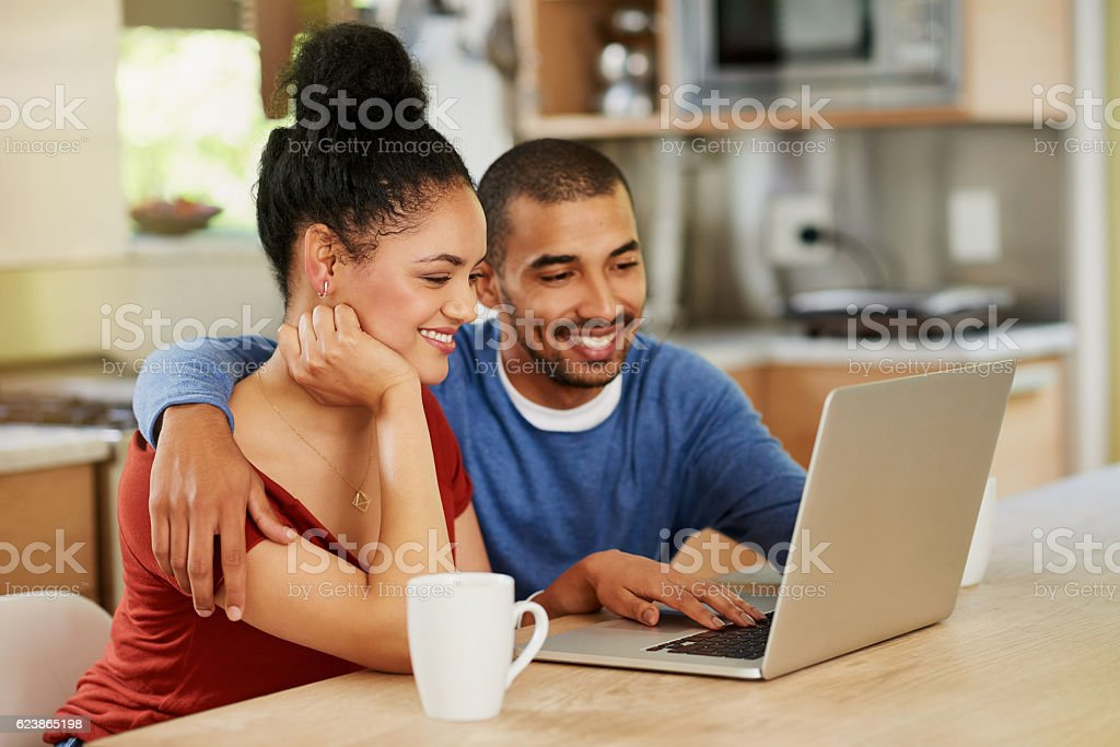 Sharing life offline and online stock photo