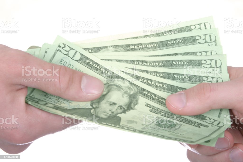 Sharing money royalty-free stock photo