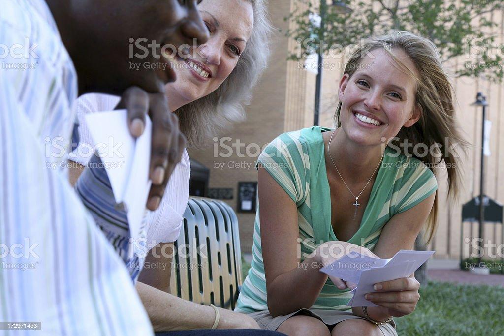 Sharing Notes royalty-free stock photo