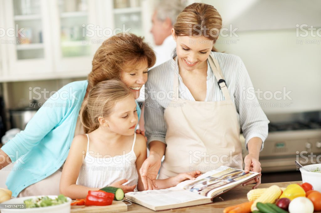 Sharing our culinary arts secrets royalty-free stock photo