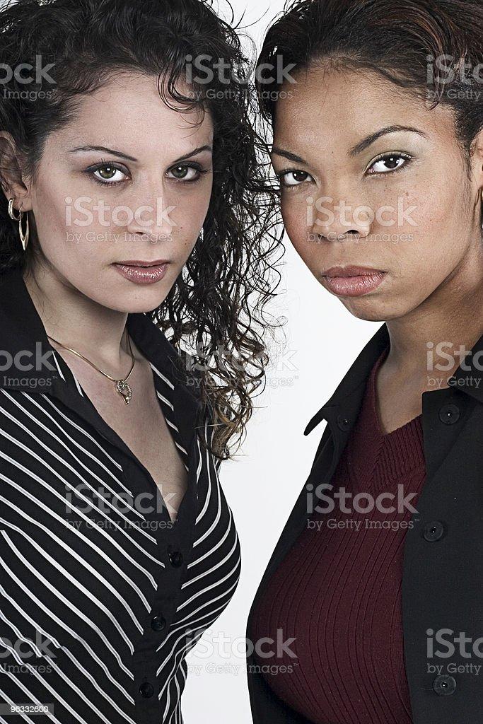 Sharing secrets stock photo